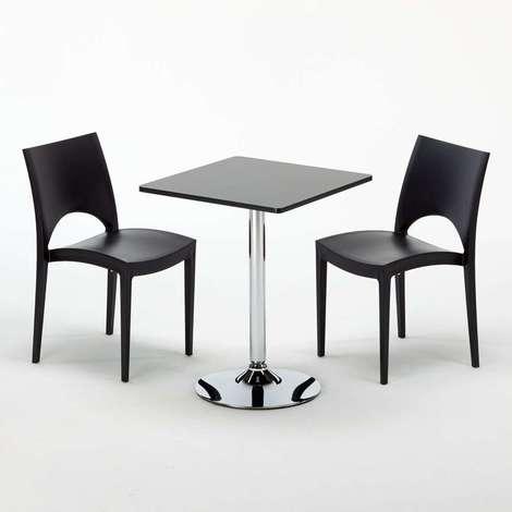 chaises tables pour café